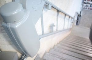 Close up of stairlift